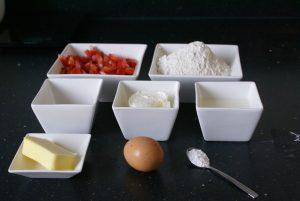 Aardbeien muffincake uit de Airfryer ingrediënten